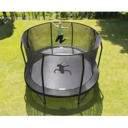 Trampoline JumpPOD Ovaal 520x426x89cm BLACK
